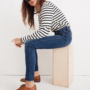 "9"" High-Rise Skinny Jeans 27 Raw-Hem"